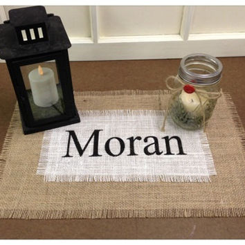 Burlap Placemat or Overlay or Centerpiece