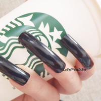 fake nails curve black long nails drag queen costume cosplay wag false nail gothic wedding uñas quirky cosplay men pointy lasoffittadiste