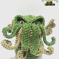 DOLL CTHULHU AMIGURUMI crochet horror cosmic Lovecraft crochet original novel writter