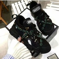 shosouvenir  : GUCCI  Flashtrek sneaker with crystals