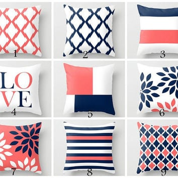 Shop Navy And Coral Decorating On Wanelo