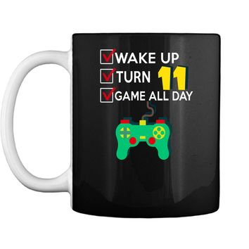 11 Yr Old Boy Game All Day Gamer Birthday Party Shirt Outfit Mug
