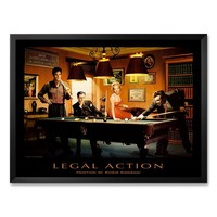 Art.com ''Legal Action'' Framed Art Print by Chris Consani