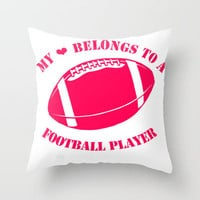 Football Girlfriend Throw Pillow by Mermaid94