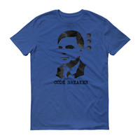 Alan turing T-shirt unisex fine jersey short sleeve T-shirt direct to garment print Alan Turing code breaker quote computer science tee