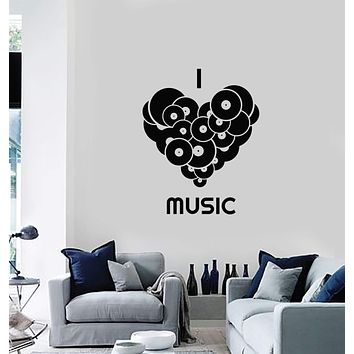 Wall Decal Vinyl Records Music Lover Quote Musical Home Room Interior Stickers Mural (ig5862)