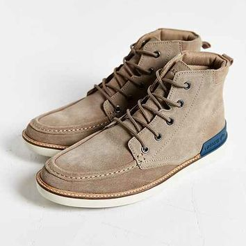 Lacoste Zinder Moc Toe Ankle Boot- Light Brown