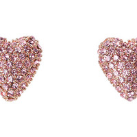 Betsey Johnson ER Heart Stud Earrings