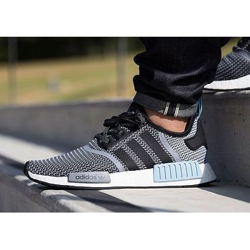 Best Sale Adidas NMD Runner ''Grey Woven /Powder Blue White''
