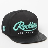 Young & Reckless Big R Script Snake Snapback Hat - Mens Backpack - Blue - One