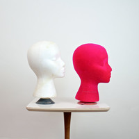 Mannequin Head • Millinery Head • Head Form • Wig Stand • 50s Mannequin Head • 50s Millinery Head • Display Head • Hat Display