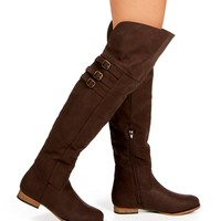 Brown Thigh High Riding Boots