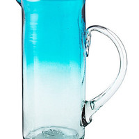 OMBRE WATER PITCHER | Recycled Glassware, Blue Glass, Modern Design, Summer Serveware | UncommonGoods