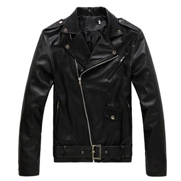 new casual Leather Jacket for Men size mlxl