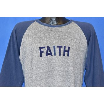 70s Faith Flocked Letters #32 Jersey t-shirt Large