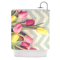 "Catherine McDonald ""Tulips and Chevrons"" Shower Curtain"