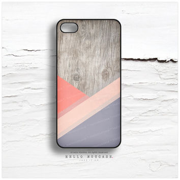 iPhone 6 case, iPhone 5C Case Wood Print, iPhone 5s Case Pink Chevron, iPhone 4s Case, Geometric iPhone Case, Purple Lines iPhone Cover T174