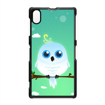 White Cockatoo Hard Plastic Case for Sony Xperia Z1 by DevilleArt
