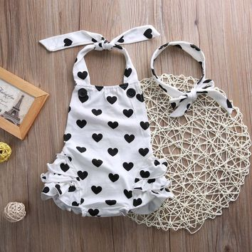 Baby Summer Sunsuit+Headband