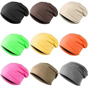 New Fashion Men Women Beanie Top Quality Solid Color Hip-hop Slouch Unisex Knitted Cap Winter Hat Beanies Chapeu