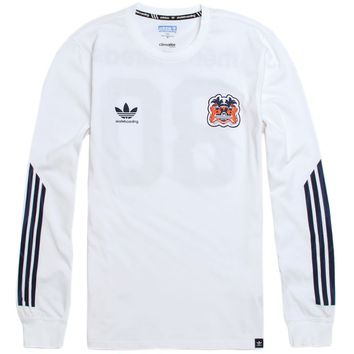 Adidas - The Hundreds Long Sleeve T-Shirt - Mens Tee - White