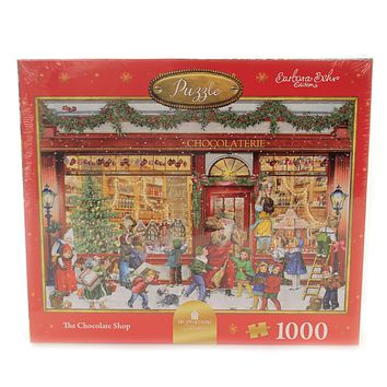 Christmas THE CHOCOLATE SHOP PUZZLE Paper 1000 Interlocking Pieces 14142