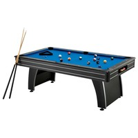 7 Ft Blue Top Pool Table with 2 Cues & Billiard Balls