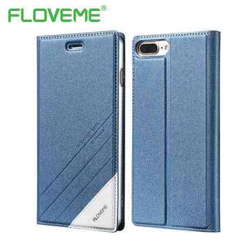 FLOVEME Flip Case For iPhone 6 6S 5 5S SE Luxury PU Leather Card Holder Full Coverage Protective Cover For iPhone 7 7 Plus Case