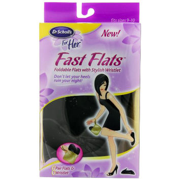 Dr. Scholl's Fast Flats, fits sizes 9-10
