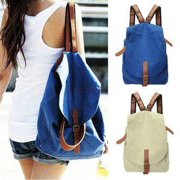 School Bags And Backpacks Women's Vintage Canvas Satchel Rucksack Travel Bag Bookbag High Quality SV003579 = 1946648196