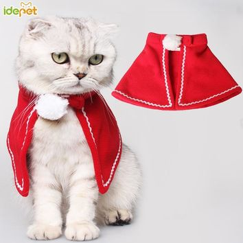 Christmas Pet Dog Cat Clothes for  Cat Trench Warm Clothes for Cats Chihuahua Costume for Kitty Coats Jackets Pets Clothing 30
