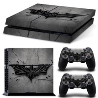 Grey Batman Logo PS4 Skin Sticker Vinly Skin Sticker for Sony PS4 PlayStation 4 and 2 controller skins PS4 Stickers Skin