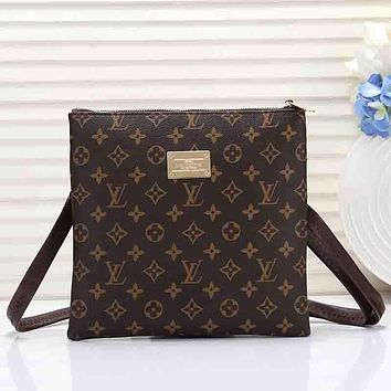 Louis Vuitton LV Men Office Bag Leather Crossbody Satchel Shoulder Bag