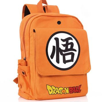 Anime Dragon Ball Z school backpack Son Goku Orange Canvas bag Cartoon cosplay Backpack for Teenagers Boys Girls 82701