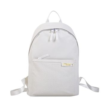 PUMA sells casual ladies' backpacks fashionable, solid-colored backpacks White