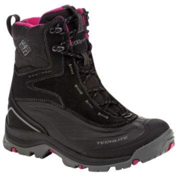 Columbia Women's Bugaboot Plus Winter Boot - Black/Pink | Dick's Sporting Goods