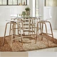 Nova Round Glass Top Vortex Iron Base Counter Height Table by INSPIRE Q | Overstock.com Shopping - The Best Deals on Dining Tables