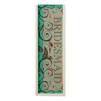 WILL YOU BE MY BRIDESMAID WEDDING WOODEN WINE BOX