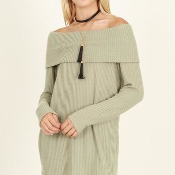 Flirting With You Sage Tunic