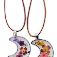 Floral Moon Necklace