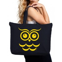 Chi Omega Canvas Tote Bag - Owl