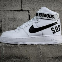 Supreme x Nike Air Force AF 1 High White/Black 94 SUP 698696-100