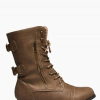 TWISTED WIDE COMBAT BOOTS