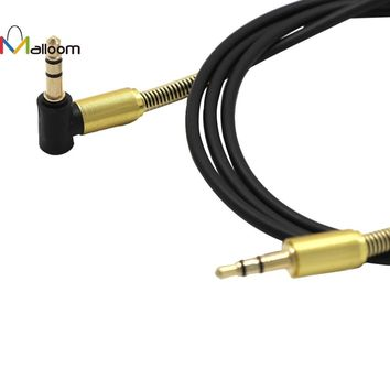 2017 3.5mm  Jack Elbow Male to Male Stereo Headphone Car Aux Audio Extension Cable