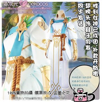 [Customize] Anime! Game OW Mercy The Goddess Of Victory Skin Uniform Cosplay Costume Free Shipping