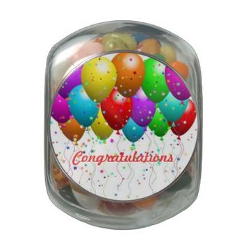 Congratulations Balloons Jelly Belly™ Candy Tin