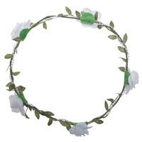 Rose, Pearl & Leaf Flower Crown | Wet Seal