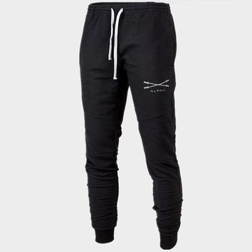 men gyms long pants cottonMens workout fitness pants casual sweatpants jogger pant skinny trousers hip hop