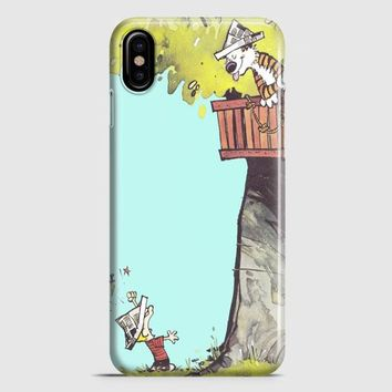 Calvin And Hobbes Hug iPhone X Case
