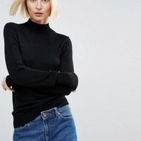 ASOS Sweater with Turtleneck in Soft Yarn at asos.com